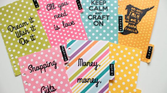 Free template to create your planner dividers