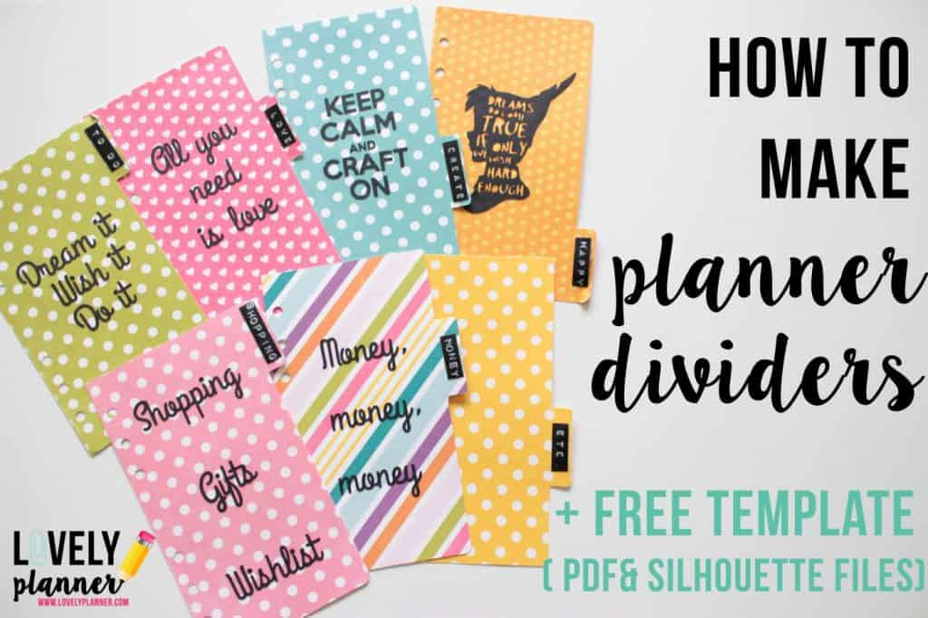 how to make planner dividers for your filofax or kikki k