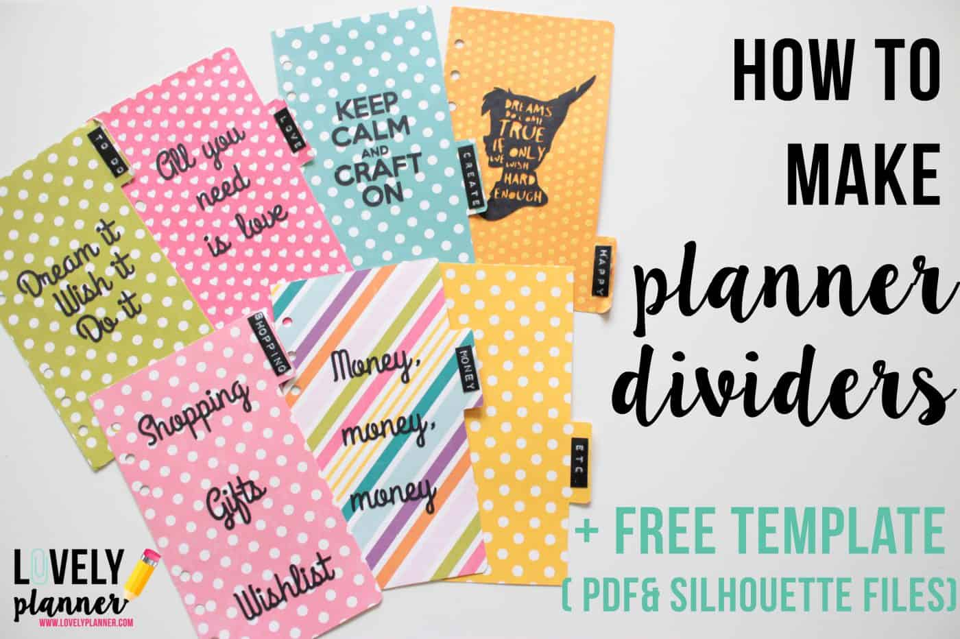 Planner dividers-title - Lovely Planner
