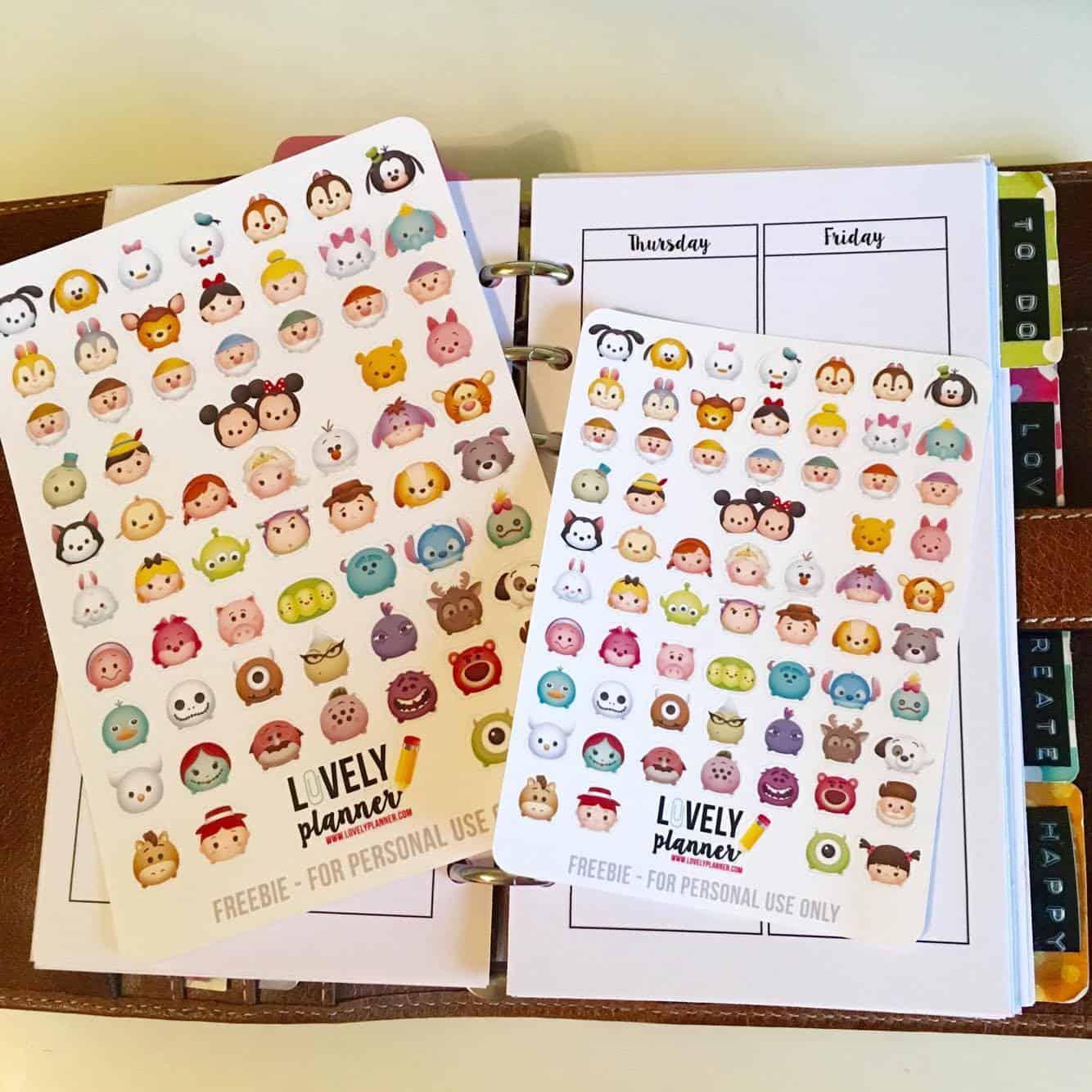 {Freebie} Tsum Tsum planner stickers