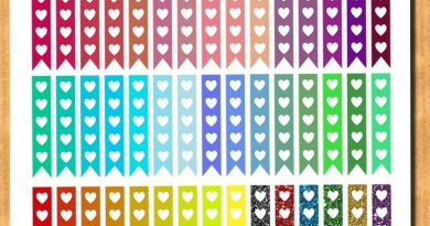 {Freebie} 45 heart checklist flags stickers for your planner