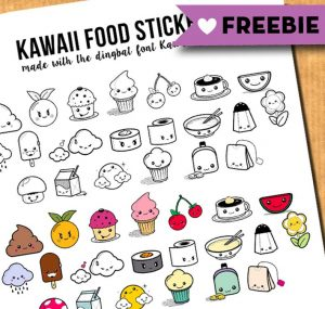 kawaii food freebie LP