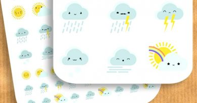 {Freebie} 63 Cute weather stickers for your planner