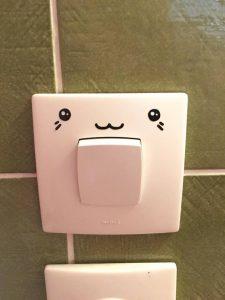 light switch decal DIY