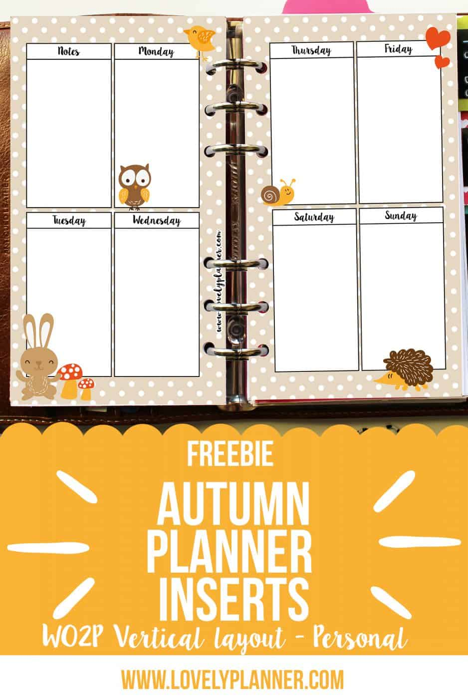 image about Printable Freebie called Freebie Autumn printable planner inserts - Attractive Planner