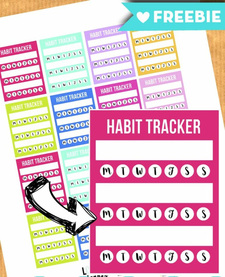 Habit tracker stickers for your planner