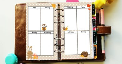 {Freebie} Autumn printable planner inserts
