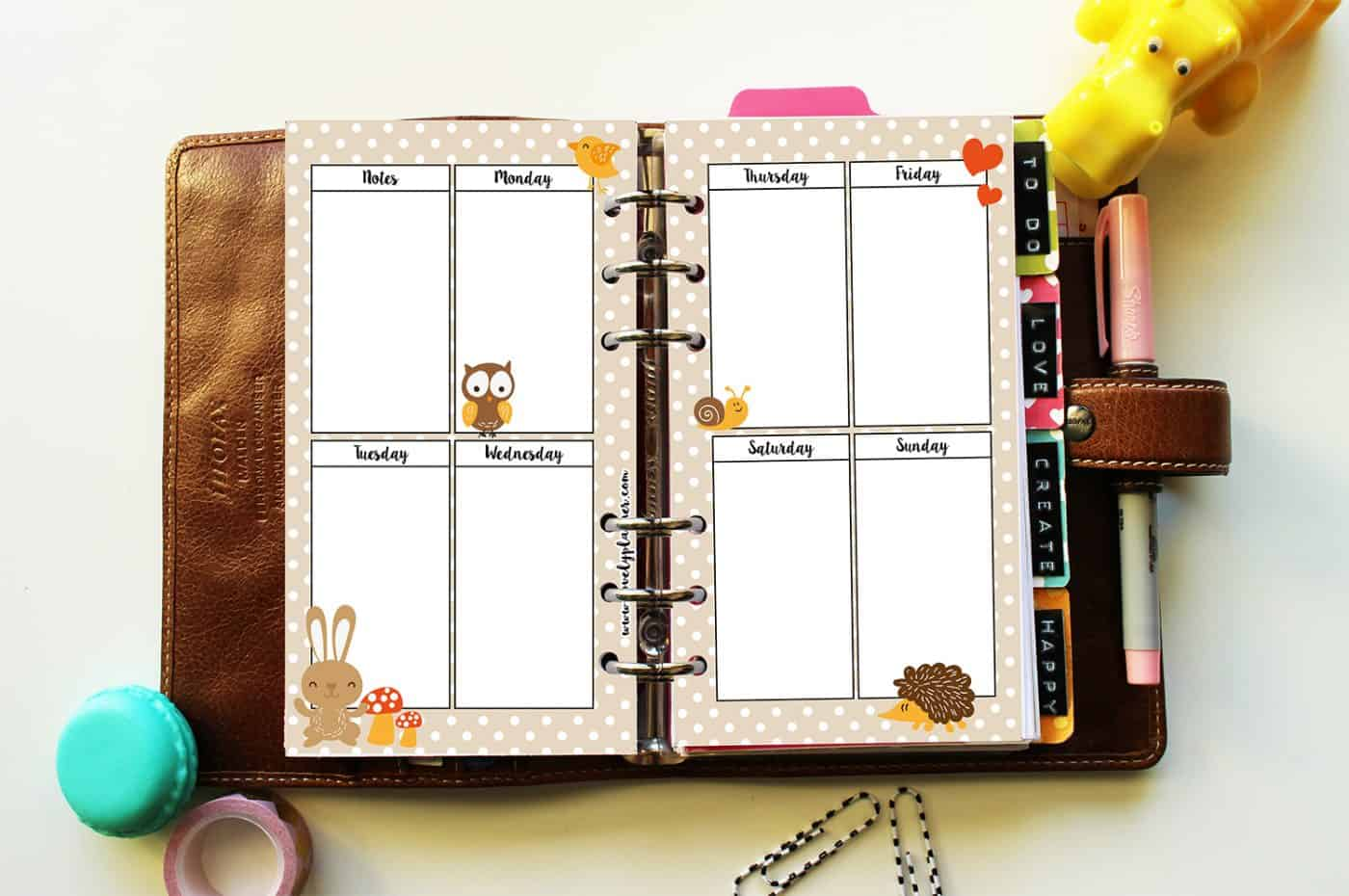 autumn-animals-printable-planner-inserts-free