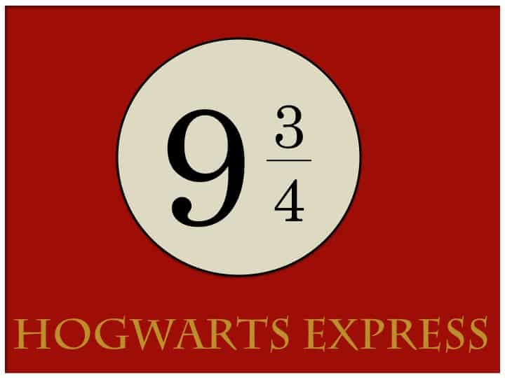 photo regarding Platform 9 3 4 Sign Printable known as absolutely free-printable-harry-potter-social gathering-System-9-3-4 - Stunning