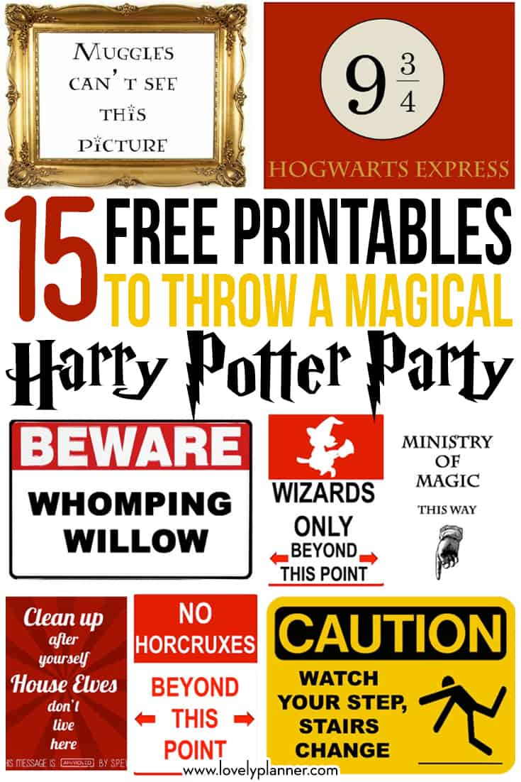 15 Free Harry Potter Printables