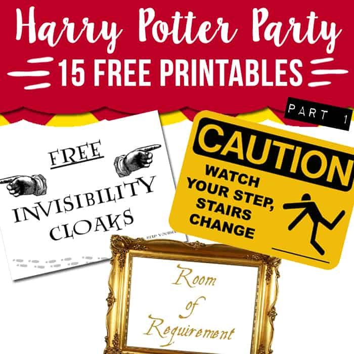 15 Free Harry Potter party printables - part 1 - Lovely Planner