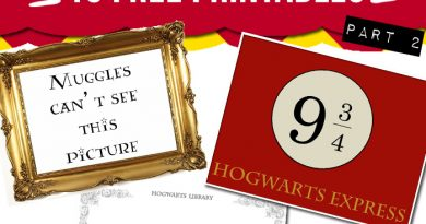 15 free Harry Potter party printables - part 2
