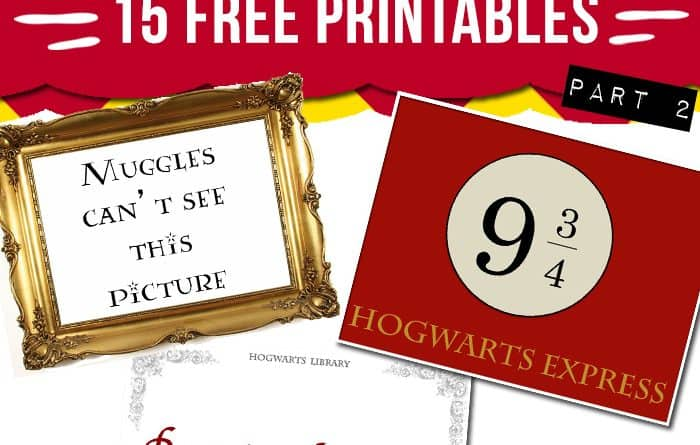 picture regarding Printable Library Signs named 15 free of charge Harry Potter social gathering printables - portion 2 - Beautiful Planner