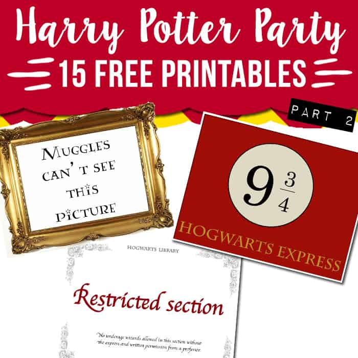 image relating to Harry Potter Stencils Printable identified as 15 totally free Harry Potter celebration printables - aspect 2 - Attractive Planner