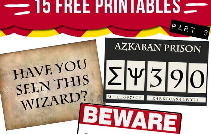 photo relating to Escape Room Signs Printable referred to as 15 cost-free Harry Potter social gathering printables - Aspect 3 - Gorgeous Planner