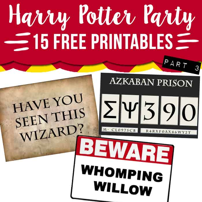 photo about Harry Potter Wanted Posters Printable named 15 absolutely free Harry Potter bash printables - Aspect 3 - Attractive Planner