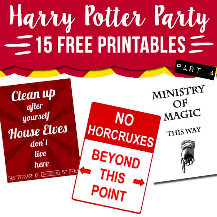 graphic regarding Harry Potter Decorations Printable called 15 cost-free Harry Potter bash printables Aspect 4 - Stunning Planner