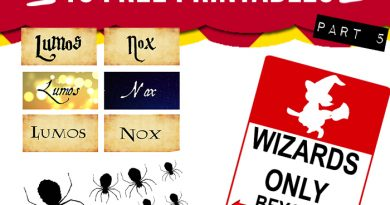 15 free Harry Potter party printables - part 5