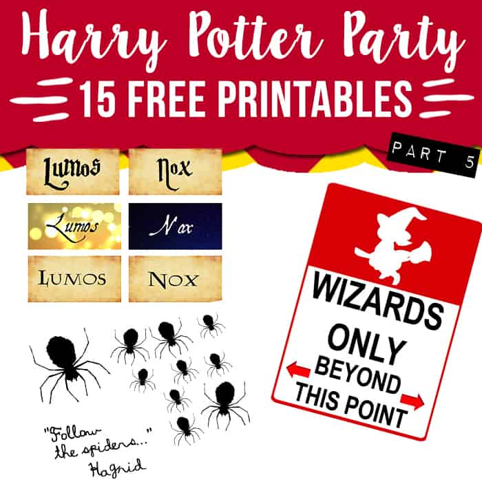 15 free Harry Potter party printables - part 5 - Lovely ...