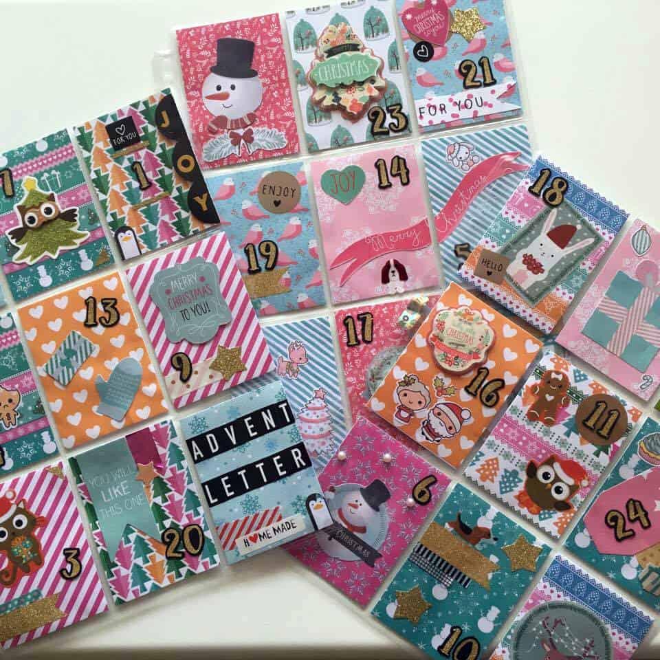 Pocket letter advent calendar - DIY
