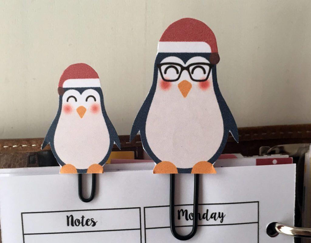 free penguin calendar divider