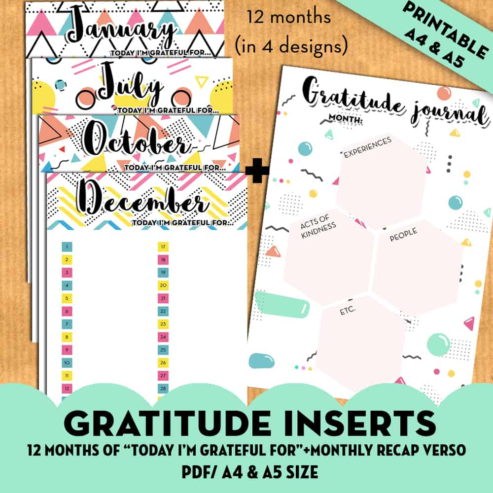 Gratitude Planner Inserts Today I M Grateful For Free Printable