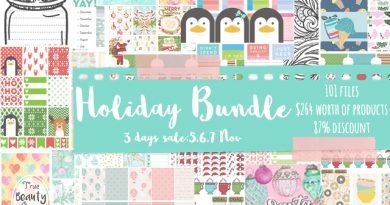 Holiday Bundle is now for sale - 87% discount during 3 days only!! (+100 files)