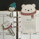 Polar bear calendar + paperclips – Free planner printable