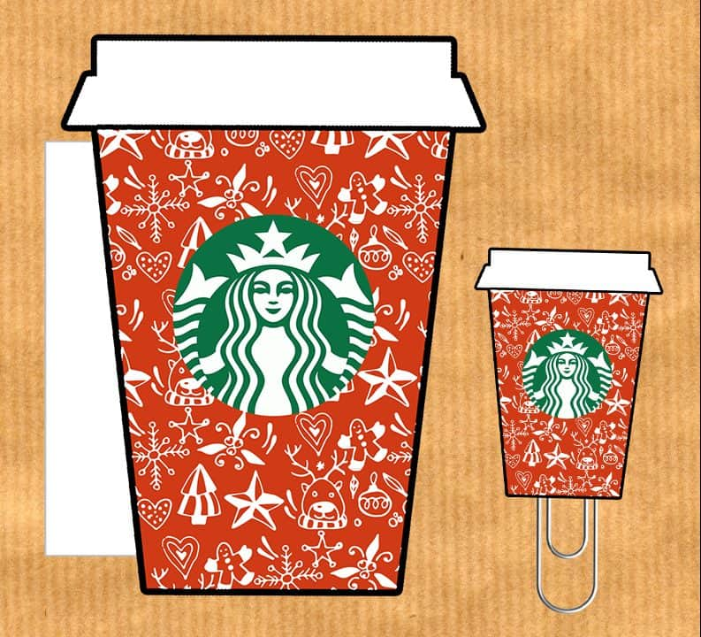 Free printable - Starbucks planner accessories {Advent calendar - Day 3}