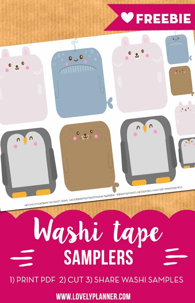 free-printable-animal-washi-samplers