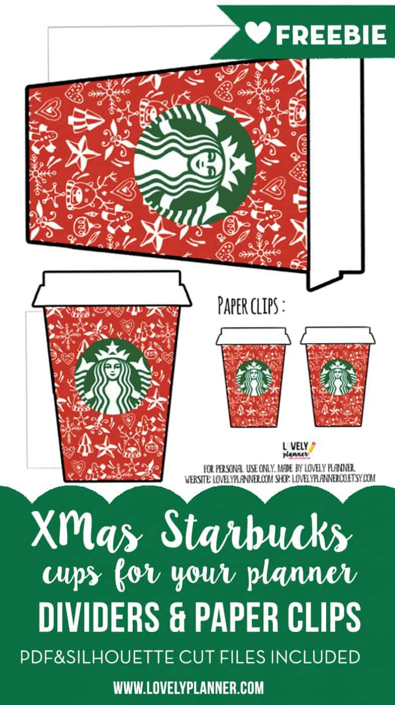 Free printable - Starbucks planner accessories {Advent ...