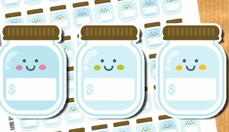 Savings jar stickers - Free printable stickers and cut files {Advent Calendar - Day 21}