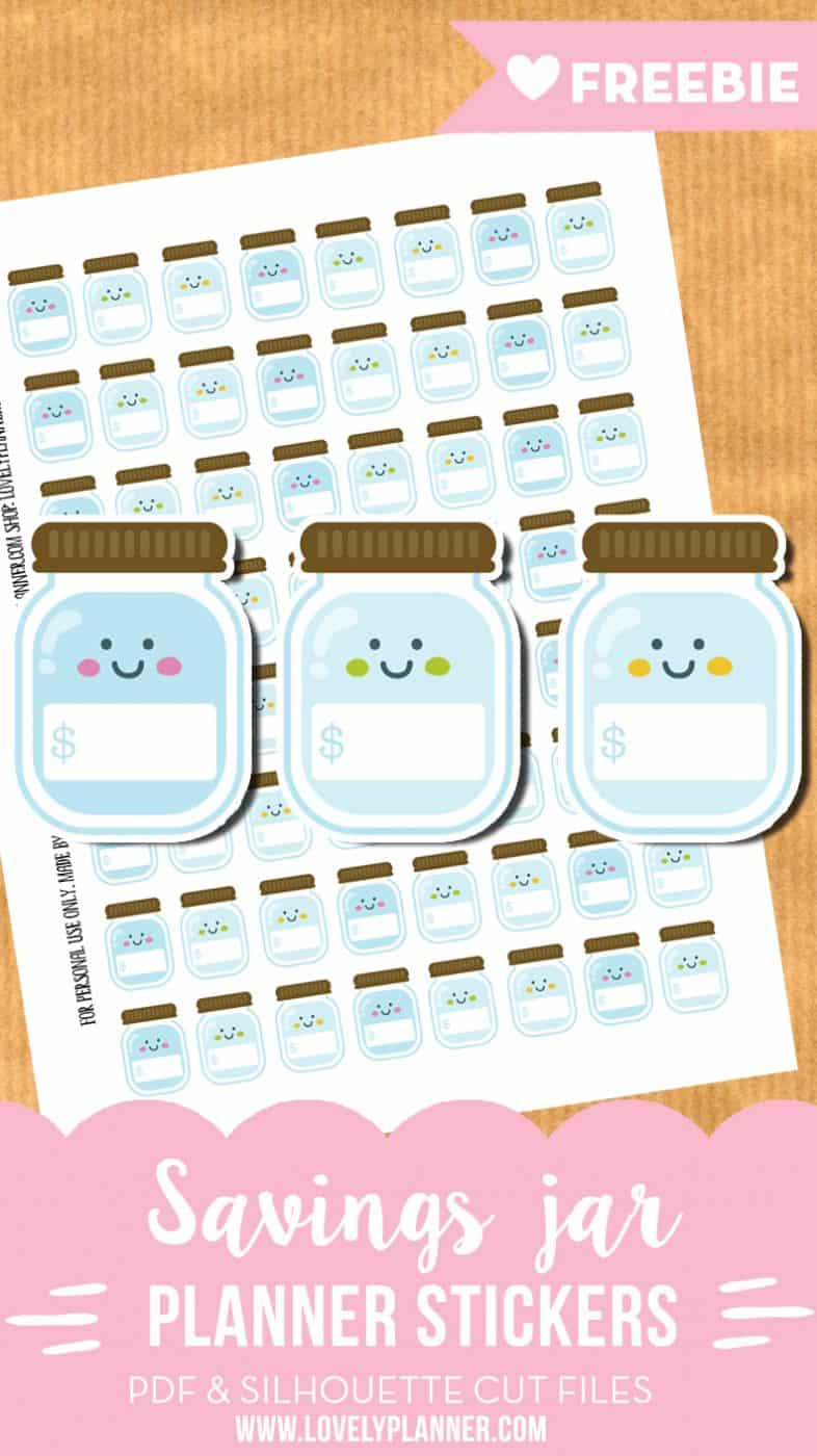 Savings jar stickers - Free printable stickers and cut ...