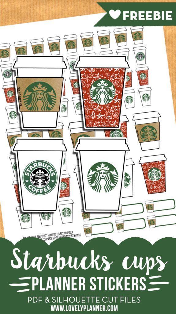 Printables Calendar September : Starbucks cups stickers free planner printable advent
