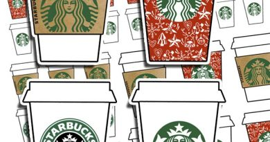 Starbucks cups stickers - Free planner printable {Advent calendar - Day 8}