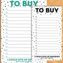 To buy / shopping list planner inserts for A5 & personal planners – Free printable {Advent calendar – Day 10}