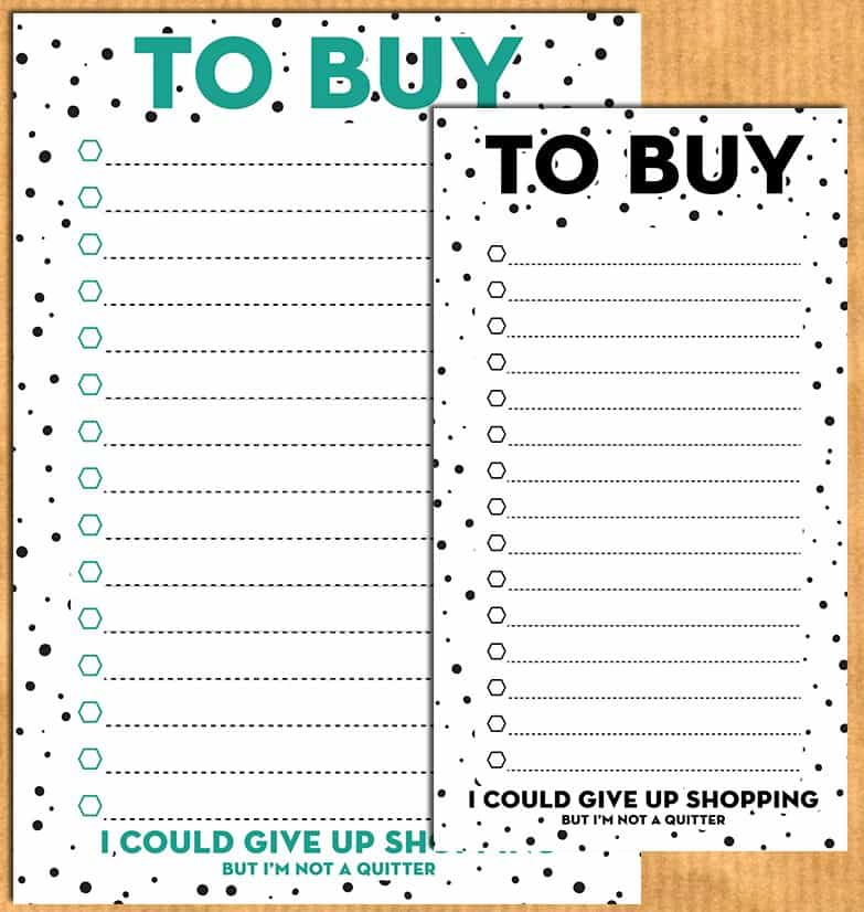 to buy    shopping list planner inserts for a5  u0026 personal planners