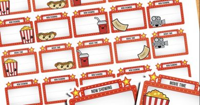 45 Cute Movie Night Planner Stickers - Free printable PDF & Cut file