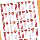 Love / Valentine's day checklist stickers – Free planner printable & cut file