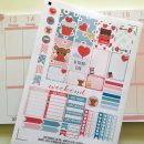 Love / Valentine's day planner stickers weekly kit – Free printable and cut file