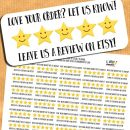 Etsy Shipping Review Stickers – FREE Printable & Cut File