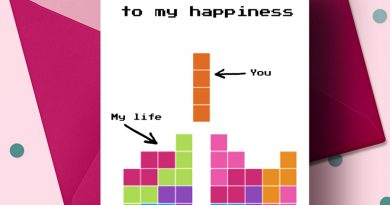 Free Printable Tetris Geeky Romantic Card