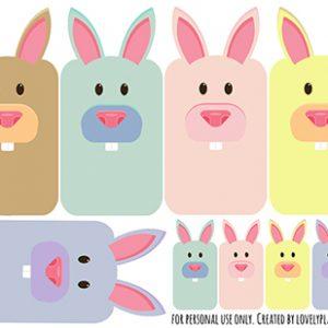Bunny washi tape sampler - Free printable to share your washi samples