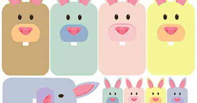 Bunny washi tape sampler - Free printable to share your washi samples