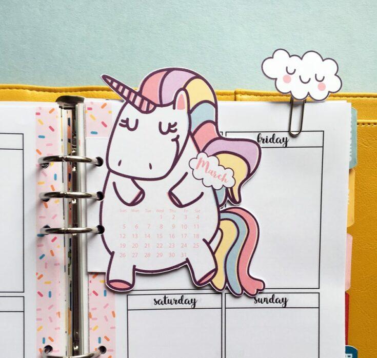 Unicorn Planner Divider