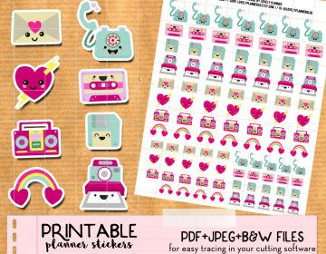 Etsy Mock up 80's kawaii phone envelope etc