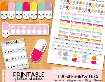 Etsy Mock up combo mix kawaii pills LP