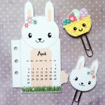 Bunny rabbit calendar divider + paper clips for your planner – Free printable