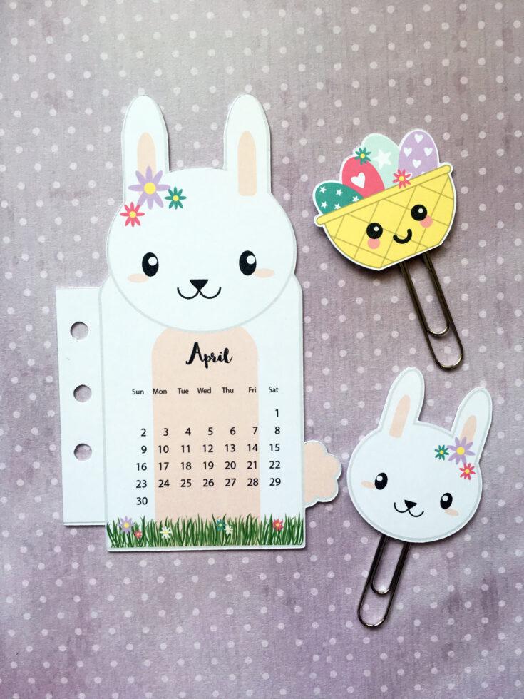 Bunny Rabbit Planner Divider