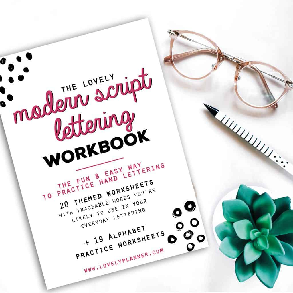 Workbooks all about me workbook : New Modern Script Lettering Workbook + 2 Free Fall & Thanksgiving ...